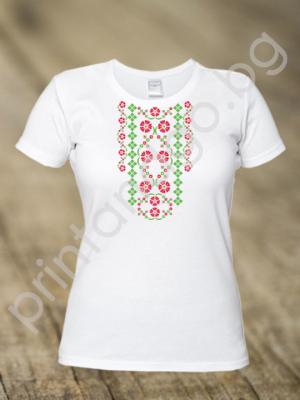 Дамска тениска с шевици